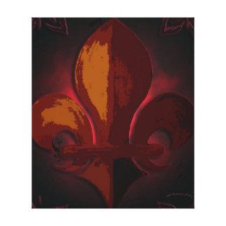 Wild Red Fleur de Lys Canvas Print