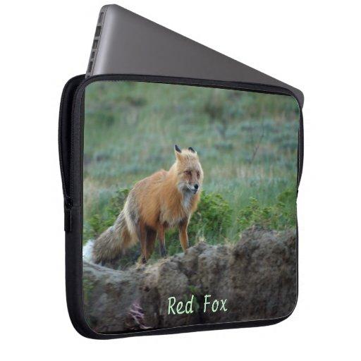 Wild Red Fox Animal Wildlife Laptop Sleeve