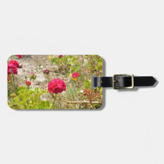 Wild Red Geraniums Tags For Bags