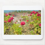 Wild Red Geraniums Mouse Pad