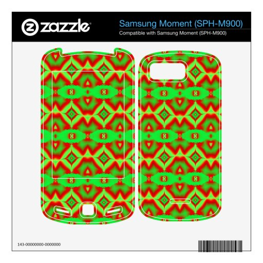 wild red green abstract pattern skins for samsung moment