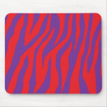 Wild Red & Purple Zebra Mouse Pads