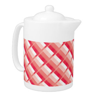 Wild Red Raspberry Plaid Teapot