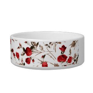 Wild Red Roses Pet Bowl