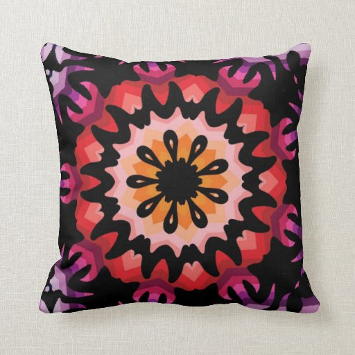 Wild Retro Mod Abstractg Throw Pillows