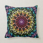 Wild Retro Mod Abstractg Throw Pillows
