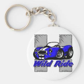 Wild Ride Car Basic Round Button Keychain
