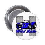 Wild Ride Car Pinback Buttons