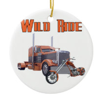 Wild Ride Ceramic Ornament
