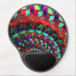 "Wild Ride Gel Mouse Pad<br><div class=""desc"">Crazy shapes and psychedelic colors whirl into infinity.  This very large image file can be moved around,  resized,  and rotated for many different looks.</div>"