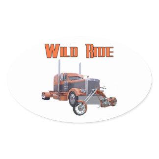 Wild Ride Oval Sticker