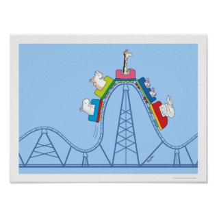 Wild Ride Roller Coaster By Sandra Boynton Poster at Zazzle