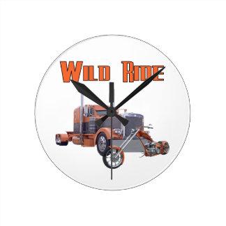 Wild Ride Round Clock