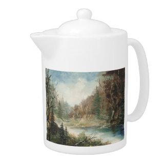 Wild River Landscape Teapot