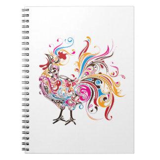 Wild Rooster Spiral Notebook
