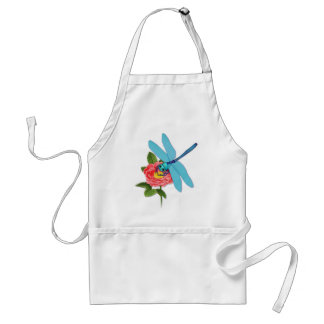 Wild Rose and Dragonfly Adult Apron