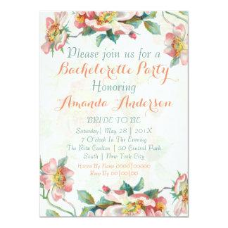 Wild rose bachelorette party invitation