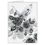 Wild Rose & Butterfly Card