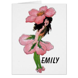 Wild Rose Cute Flower Child Floral Vintage Girl Card
