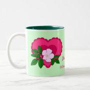 Wild Rose Dated Personalized Gift Mug mug
