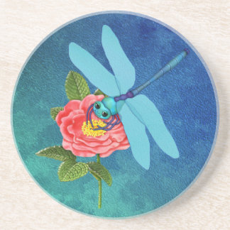 Wild Rose Dragonfly Coaster