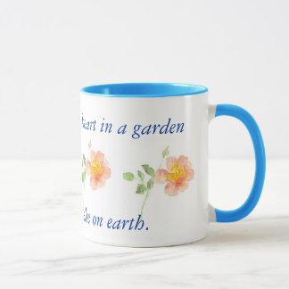 Wild Rose for Gardener Ringer Mug
