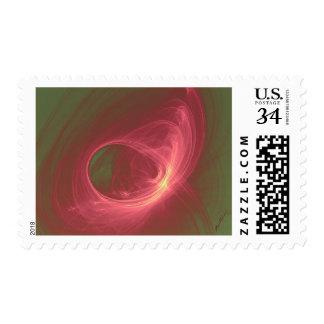 Wild Rose Fractal in Vintage Colors Medium Stamp