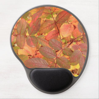 Wild Rose leaves in autumn Gel Mousepads