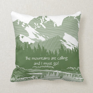 Wild Rose Mountain View Pillow