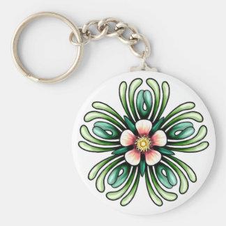 Wild Rose Pent Keychain