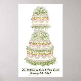 Wild Rose Wedding Cake Print