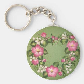 Wild Rose Wreath Keychain