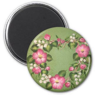 Wild Rose Wreath Refrigerator Magnets