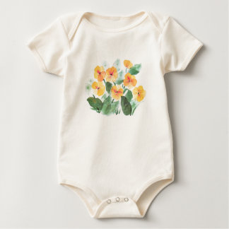 Wild Rose Yellow Baby Bodysuit