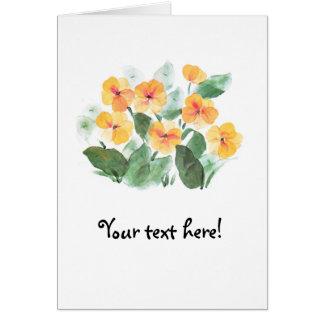 Wild Rose Yellow Card