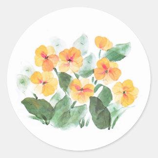 Wild Rose Yellow Classic Round Sticker