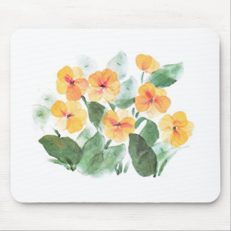Wild Rose Yellow Mouse Pad