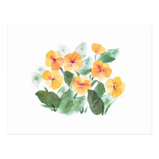 Wild Rose Yellow Postcard