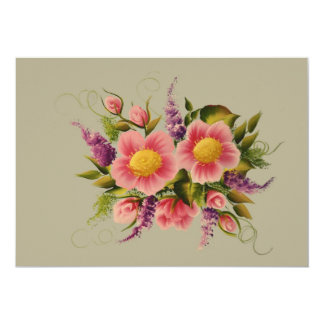Wild Roses and Lilacs Card