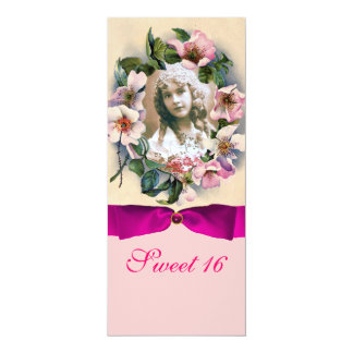 WILD ROSES AND PINK RIBBON PHOTO TEMPLATE MONOGRAM