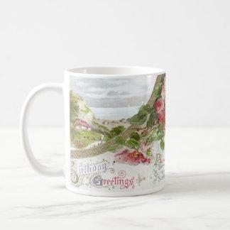 Wild Roses and Vignette Vintage Birthday Mugs