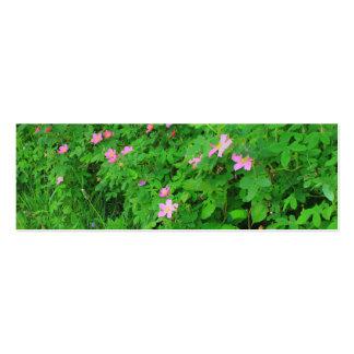 Wild Roses bookmark Mini Business Card