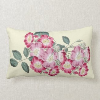 Wild Roses Botanical Indoor Lumbar Pillow