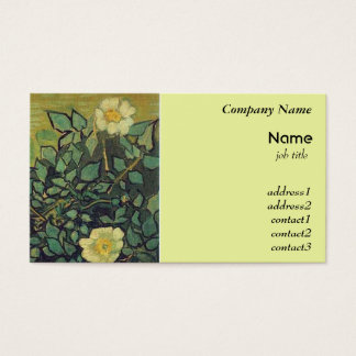 Wild Roses by Vincent van Gogh Business Card