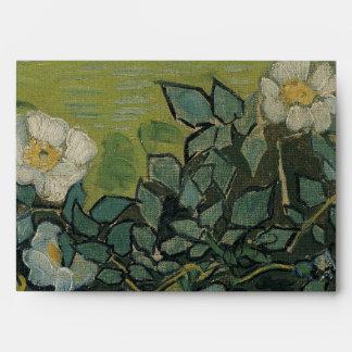 Wild Roses by Vincent Van Gogh Envelope