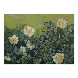 Wild Roses by Vincent Van Gogh 5x7 Paper Invitation Card