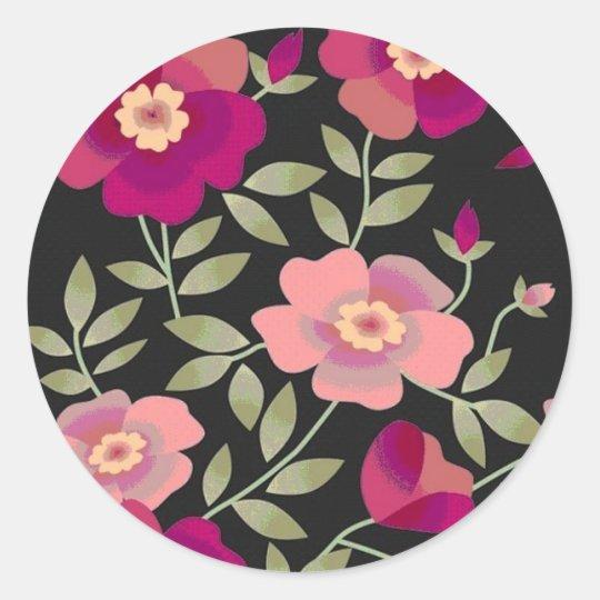 Wild Roses Classic Round Sticker