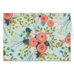 Wild Roses Floral Garden Blank Notecard Stationery Note Card