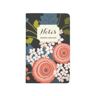 Wild Roses Floral Garden Personalized Journal