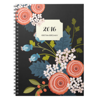 Wild Roses Floral Garden Personalized Notebook